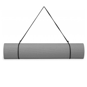 GAIAM ESSENTIALS MATA DO JOGI 6 MM Z PASKIEM SZARA 63317